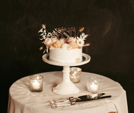 small blush wedding cake