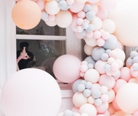 pastel balloon installation