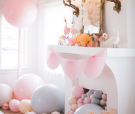 pastel balloons for birthday