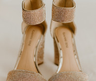 Champagne wedding heels