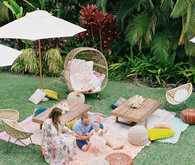 Mermaid and beach inspired 1st birthday party on Maui
