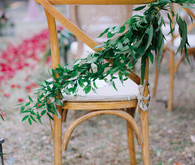 greenery for ceremony chairs