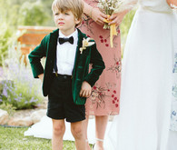 green velvet ring bearer