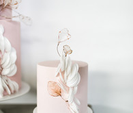 minimalist pink wedding cake
