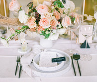 marble place settings for wedding