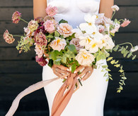 mauve bridal bouquet