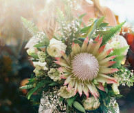 king protea bridal bouquet