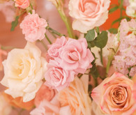 modern pink wedding flowers