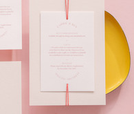 minimalist, pretty wedding invitations