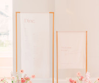 modern seating chart for wedding