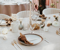 chic neutral place setting