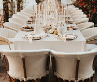 Boho glam wedding reception