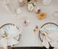 Boho romantic place settings