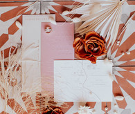 Boho glam wedding invitations