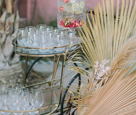 palm leaf wedding decor
