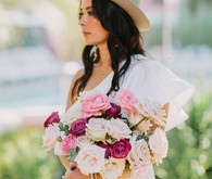 pink and blush bridal bouquet