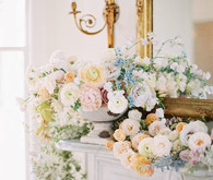 soft pastel spring wedding flowers