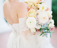 soft pastel spring bridal bouquet