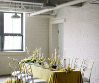 Yellow tablescape for spring