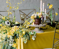 lush yellow table garland