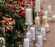 candles and flowers for wedding ceremony