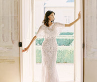 romantic beaded wedding dress