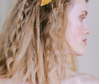 crimped bridal hair