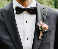black groom's suit