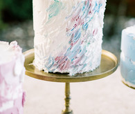 cute painted wedding cake