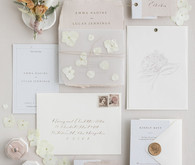 soft, romantic wedding stationery