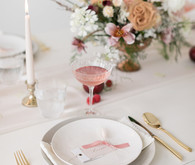 minimalist white place setting