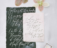 black and white wedding calligraphy
