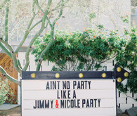 Ace Hotel Palm Springs wedding sign
