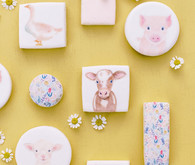 Charlotte's Web themed spring baby shower cookies