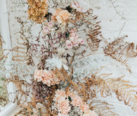 dried floral installation