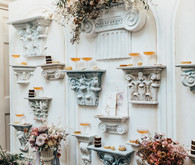 Floral and cocktail wall