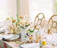 Bright summery tablescape