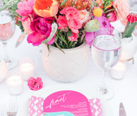 Modern colorful wedding decor