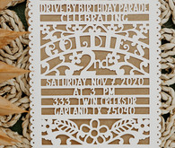 papel picador birthday invitation