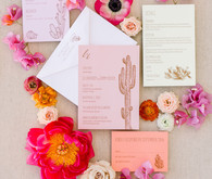 Palm Springs wedding invites