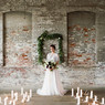 Industrial winter wedding ceremony