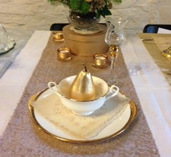Champagne Gold Sequin Table Runners