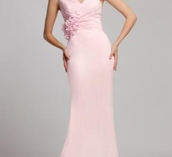 Cheap Pink Bridesmaid Dress From Queeniebridesmaid