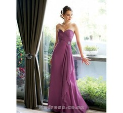 Attractive Sweetheart Sheathy Empire Waist Beading Chiffon Gown (WDBD-024)