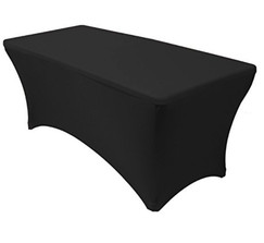 Black Stretch Tablecloths - 16 Available