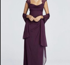 Bridesmaid dress in plum