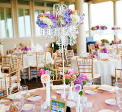 Real weddings and wedding inspiration ideas tabletop chandelier tabletop chandelier centerpieces aloadofball Images
