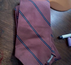 Retro Vintage Cranberry striped Silk Tie