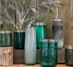 10 West Elm Glass Cylinder Vases / Hurricanes