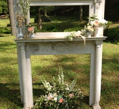 1930's Fireplace Mantel / Alter - Rustic!
